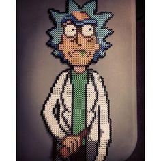 Rick (Rick and Morty) perler beads by morbesety