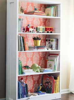 painted furniture decoupage bookshelf makeover, decoupage, painted furniture, shelving ideas