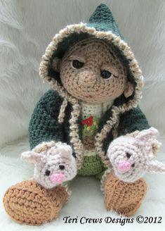 Summer Sale Crochet Pattern Winter Wear Doll Clothes Set for