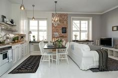 Open kitchen in a small space