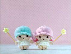 Tsum Tsum Amigurumi Pattern Free : Little twin star amigurumi finished products amigurumi twins