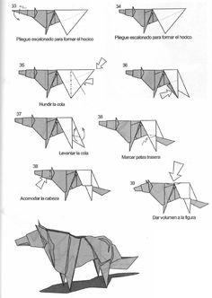 tuto origami loup