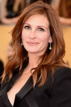 Julia Roberts WireImage - HarpersBAZAAR.com Chestnut red hair color