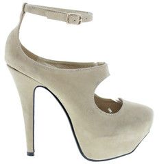 Match these nude shoes to a bold colored mini dress... stylish!