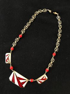 Items similar to Antique Red Enamel Choker Necklace Art Deco Enameled Filigree Geometric Collar Necklace Antique Estate Jewelry Birthday Gift for Her on Etsy Art Deco Jewelry, Jewelry Gifts, Vintage Jewelry, Unique Jewelry, Jewellery, Collar Necklace, Arrow Necklace, Gifts For Women, Gifts For Her