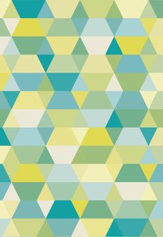 Green Pattern, vintage look by Fernando Augusto Copyright ©