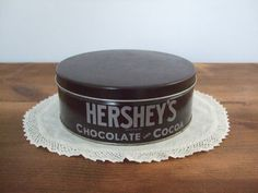 Vintage Hershey's Chocolate and Cocoa Tin by jessamyjay on Etsy.