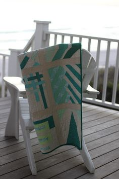 Modern BOM quilt Emerald Coast MQG made to raise money for a charity. #sewmamasew #modernbom
