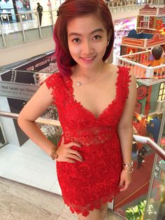 Red dress for chinese new year Trendy Dresses, Prom Dresses, Formal Dresses, Boho Dress, Lace Dress, Dress Brokat, Designs For Dresses, Lace Back, Winter Dresses
