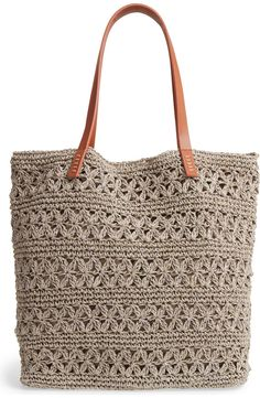 Crochet Tote, Crochet Handbags, Diy Crafts Crochet, Crochet Projects, My Bags, Purses And Bags, Knitting Patterns, Crochet Patterns, Traveling By Yourself