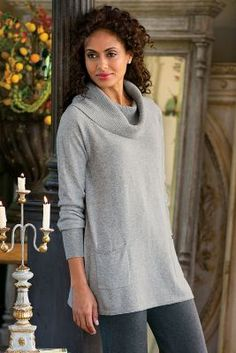 Weekend Escape Pullover - Cowl-neck Sweater, Long Cowl-neck Sweater, Women's Sweaters   Soft Surroundings