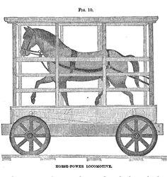 B & O horse-powered train ... treadmill 1830