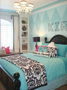 Cute and Cool Teenage Girl Bedroom Ideas   #homedecor  https://www.kleengaroo.com/