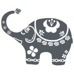Elefante de la Suerte- vinilo decorativo delaJungla Elephant Pattern, Elephant Art, Elephant Design, Drawing Bag, Mosaic Animals, Wood Burning Patterns, Doodles Zentangles, Love Craft, Machine Quilting