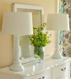 Don't toss dated brass lamps ... spray paint them new again!
