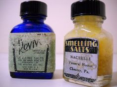 Smelling Salts Bottles Revivo Blue Glass and by FoundForYou, $20.50