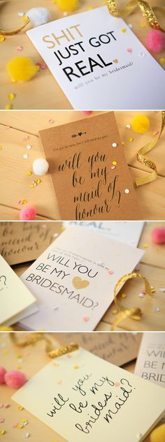 FREE Will you be my bridesmaid printables