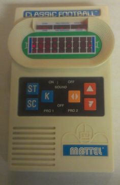Vintage Classic Mattel Football Electronic Game Handheld 2000 White Hand-Held
