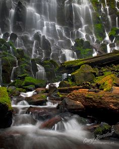 Ramona Falls in the Mt. Hood National Forest, Oregon - photo by Gary Randal Ramona Falls in the Mt. Hood National Forest, Oregon - photo by Gary Randal Oregon Travel, Travel Usa, Beautiful Waterfalls, Beautiful Landscapes, The Places Youll Go, Places To See, Ramona Falls, Oregon Waterfalls, Les Cascades