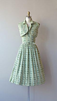 Garden Grove dress vintage 1950s dress cotton 50s by DearGolden