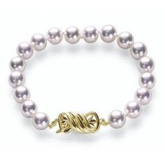 """9x9.5mm AA Quality Japanese Akoya saltwater cultured pearl Double Strand Bracelet 7"""" - http://www.wonderfulworldofjewelry.com/jewelry/bracelets/strand/9x95mm-aa-quality-japanese-akoya-saltwater-cultured-pearl-double-strand-bracelet-7-com/ - Your First Choice for Jewelry and Jewellery Accessories"""