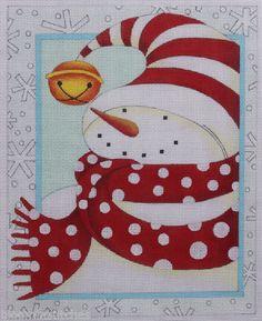 Ewe & Eye Cozy Snowman by Karen Cruden EWE-421 Hand Painted Needlepoint Canvas