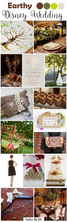 Natural, Earthy Disney Wedding Inspiration