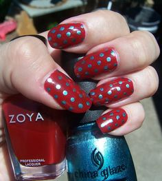 Concrete and Nail Polish: Polka Dot Nails