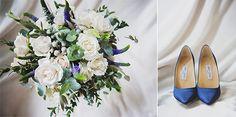 Ramo de novia y zapatos azules Jimmy Choo - Emilia & Fernando – Fotografía de Boda en Madrid | Ana Gely A. Photography