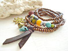 Yoga Bracelet  Yoga Jewellery  Dharmachakra by HandcraftedYoga, $36.00