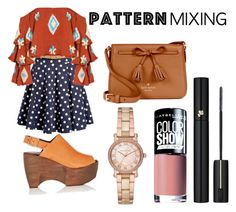 pattern mixing by nerdness14 on Polyvore featuring polyvore fashion style Mochi Simon Miller Kate Spade Michael Kors Lancôme Maybelline clothing
