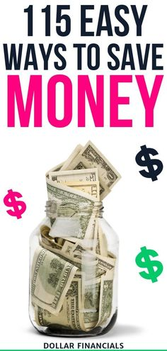 115 Creative Ways To Save Money On A Tight Budget These money saving tips help m… – Finance tips, saving money, budgeting planner Best Money Saving Tips, Money Saving Challenge, Money Tips, Saving Money, Money Budget, Investing Money, Money Plan, Savings Challenge, Money Hacks