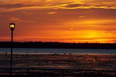 Coucher de Soleil sur la promenade de la Mer A Rimouski au Bas-St-Laurent (Quebec) CANADA Bas Saint Laurent, Photos, Canada, Celestial, Sunset, Nature, Outdoor, Beautiful, Beautiful Sunset
