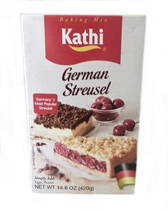 Baking Made Easy with this Kathi German Streusel Cake Baking Mix - Crumble Cake Mix 11.6oz - Make german apple and cherry streusel cakes. just add some fresh ingredients! So easy!