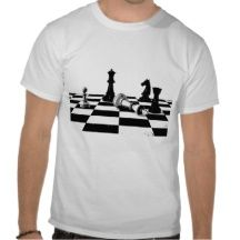 Chess Pieces Chessboard Checkmate White King T-shi T Shirt