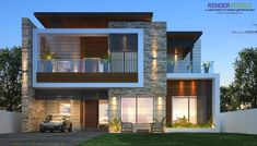 house design plan, house architecture design, Modern House Plans And Elevations - In designing modern house plans and elevations also r. Modern Exterior House Designs, Modern Villa Design, Modern Architecture House, Modern House Plans, Exterior Design, India Architecture, Bungalow House Design, House Front Design, Bungalow Exterior