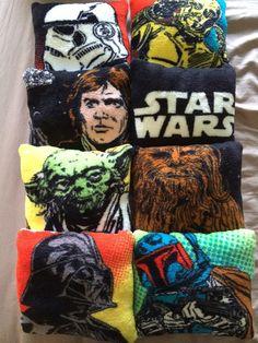 Star Wars decorative fleece pillows by TheNerdyPrincess on Etsy