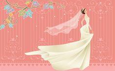 fondos de escritorio de Vectores de la boda la novia (2) #20