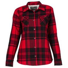 3d1628ca54 Natural Reflections Flannel Shirt Jacket for Ladies - Red Black Plaid - 2XL  Flannel Friday