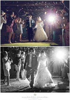 Bubble grand exit. Chelsea + Daniel's wedding at Lenora's Legacy. Image credit: Michelle Brooks Photography.