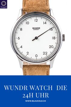 White dial     Suede caramel bracelet           Description  The Wundr Watch slows down the perceived time It has only one hand, which makes one revolution every 24 hours With high-quality materials and a Swiss movement, the Wundr Watch is a real eye-catcher With quick-release system for an uncomplicated change of the bracelet and thus easy adjustment of the look of your watch.watch #watchesofinstagram #watchoftheday #watchfam #watchcollector #watchaddict #rolex #fashion #watchlover Rolex, Omega Watch, Clock, Product Description, Watches, Revolution, Caramel, Change, Eye
