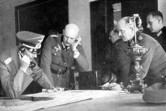 Hitler in Poland by Heinrich Hoffmann -- General von Bock reported that Mlawa has been taken.