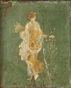 Flora (Proserpine). Fresco from Stabiae (cubiculum w26 of the Villa of Ariadne). Inv. No. 8834. Naples, National Archaeological Museum.
