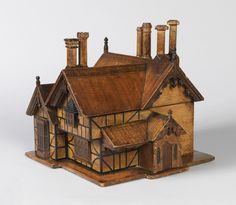 I know this is a Tea Caddy, ca. 1870, but I can see it being used instead as a wonderful workbox for the needleworker!