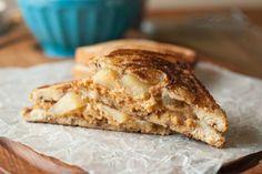 Apple Pie Grilled Peanut Butter Sandwich by Food Fanatic
