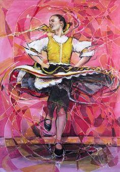 "Saatchi Art Artist Lubomir Korenko; Painting, ""Soul dance (Traditional Slovak…"