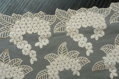 2 Yards Tulle Lace Trim Floral Embroideried Lace 8.26 Inches Wide. $6.99, via Etsy.