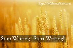 Stop Waiting Start Writing A Book! The time is now. The harvest season is here. http://writetowin.org/stop-waiting-start-writing/
