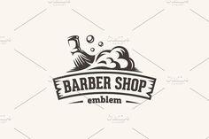 Barber shop — emblem template by Repa design bureau on @creativemarket