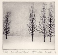 Pamela Grace is an artist and printmaker living and working in Galloway. Her work is based on drawing - realised in pen and ink wash, etchings and solar-plate etchings Abstract Landscape, Landscape Paintings, Landscapes, Winter Tree Drawing, Winter Trees, Ex Libris, Tree Art, Art Sketchbook, Snow